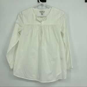 Women's J. Crew Size 4 Cotton Boho Embroidered Top